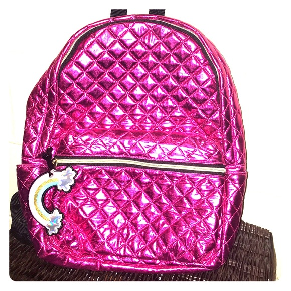 Claire's Handbags - NWT Claire's backpack fucsia pink quilted